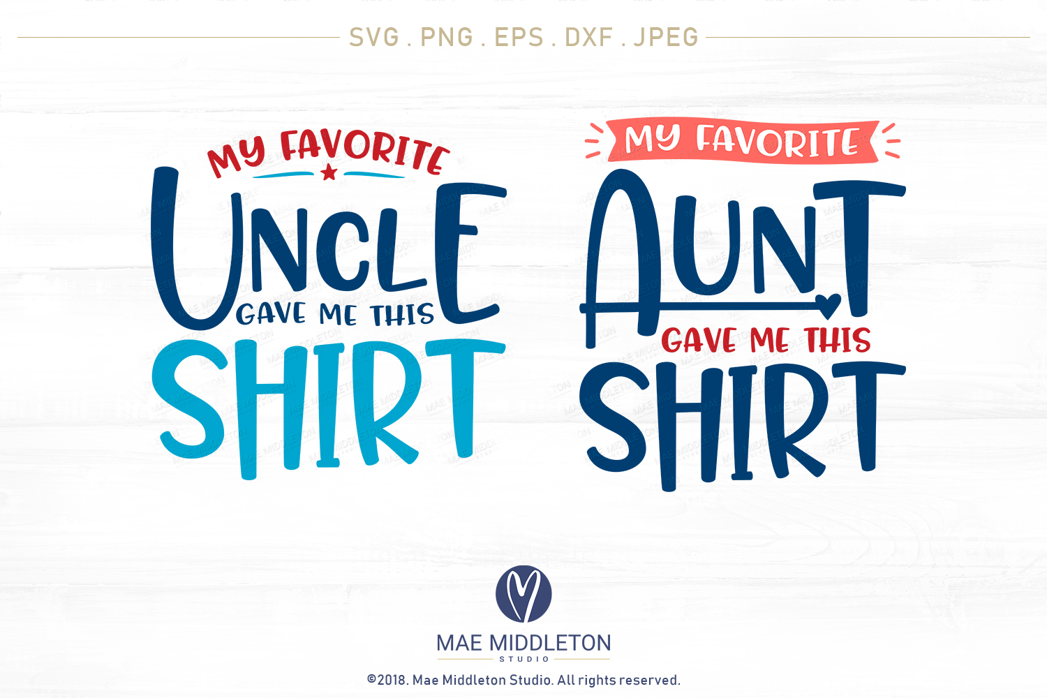 My Favorite... Gave Me This Shirt SVG Bundle example image 14