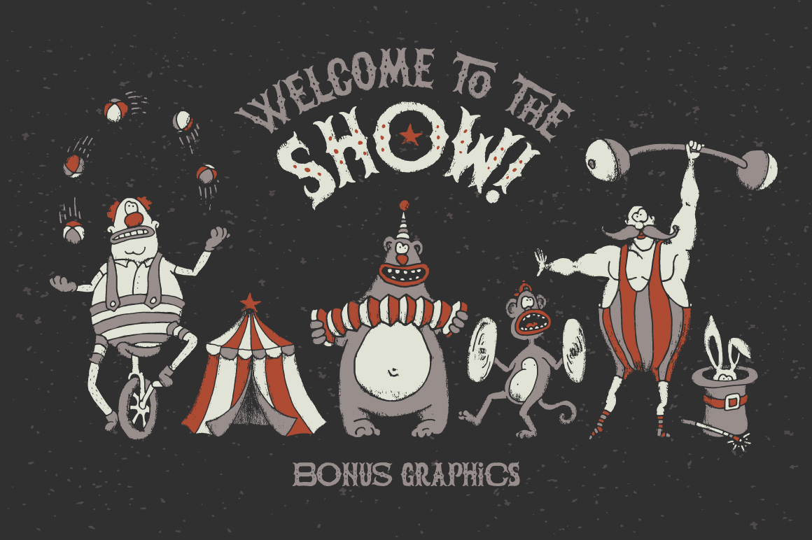 The Freaky Circus font example image 5