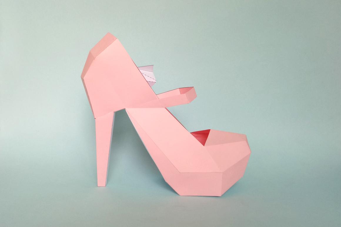 DIY Nude Pump shoes - 3d papercraft example image 4
