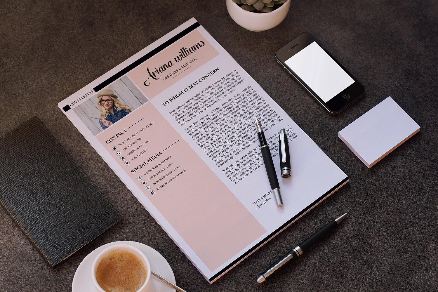 Professional Resume | Cv Template example image 3