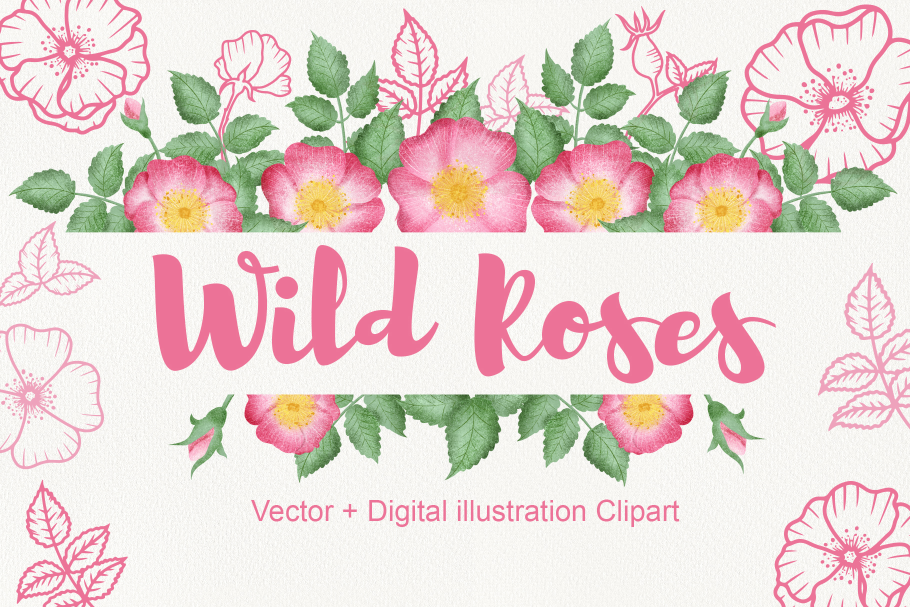 Wild Rose Clipart Rose Hip example image 1