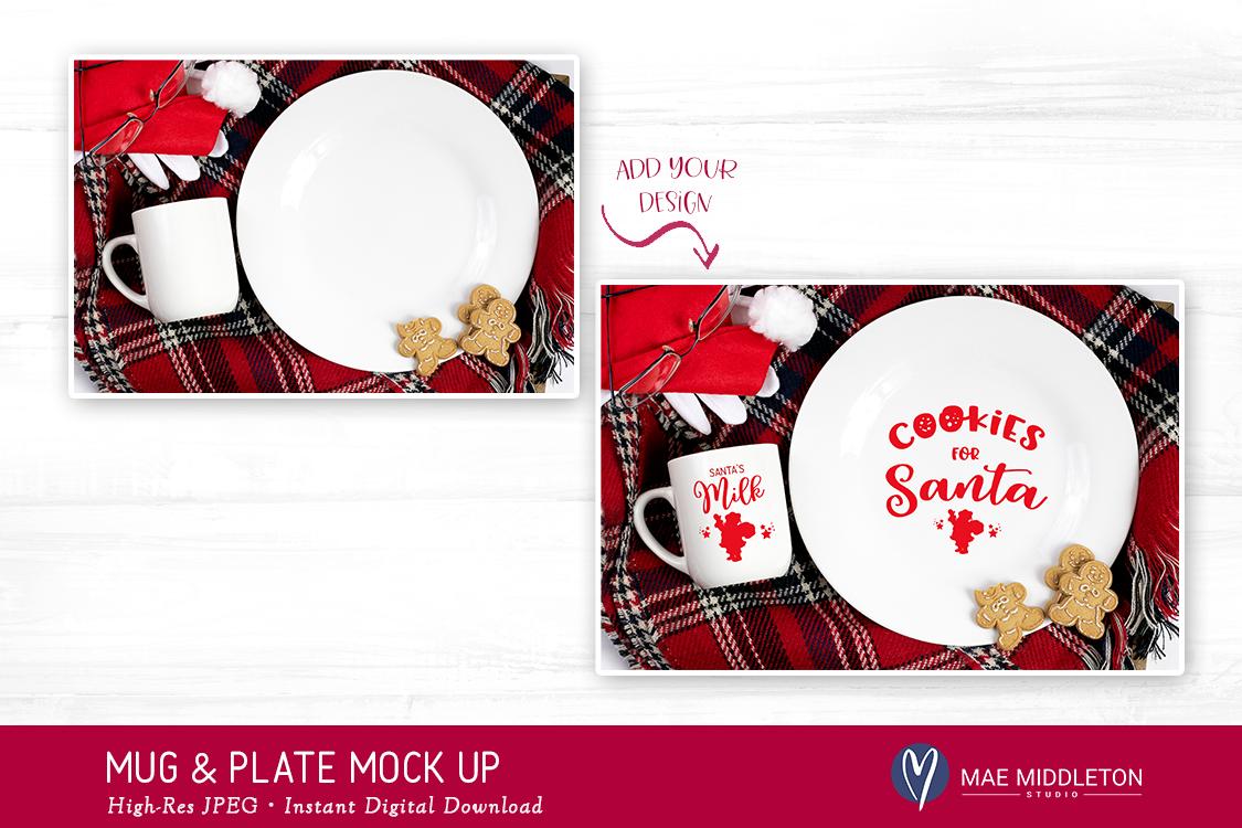 Christmas Mock Up - Santa Mug & Plate Mock Up example image 2