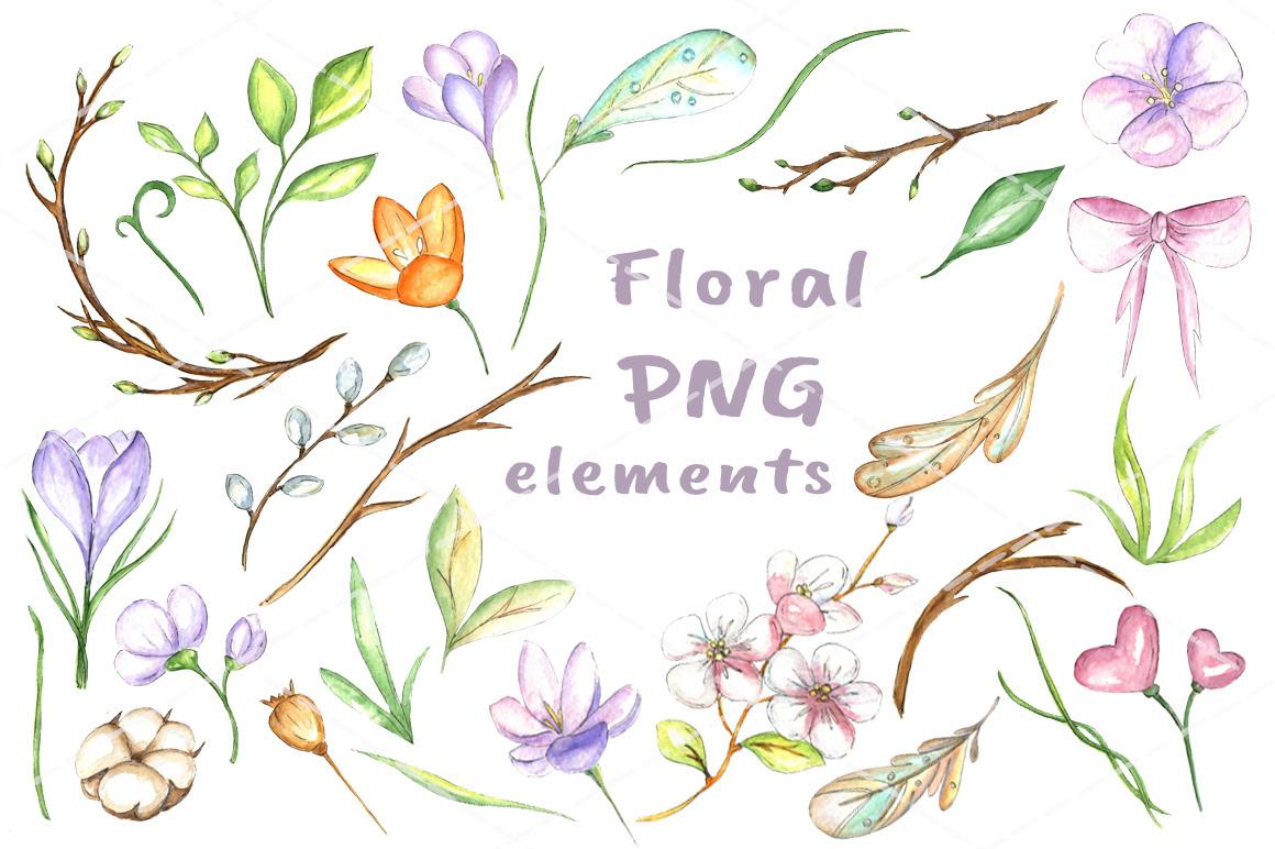 Happy Easter watercolor bundle example image 5