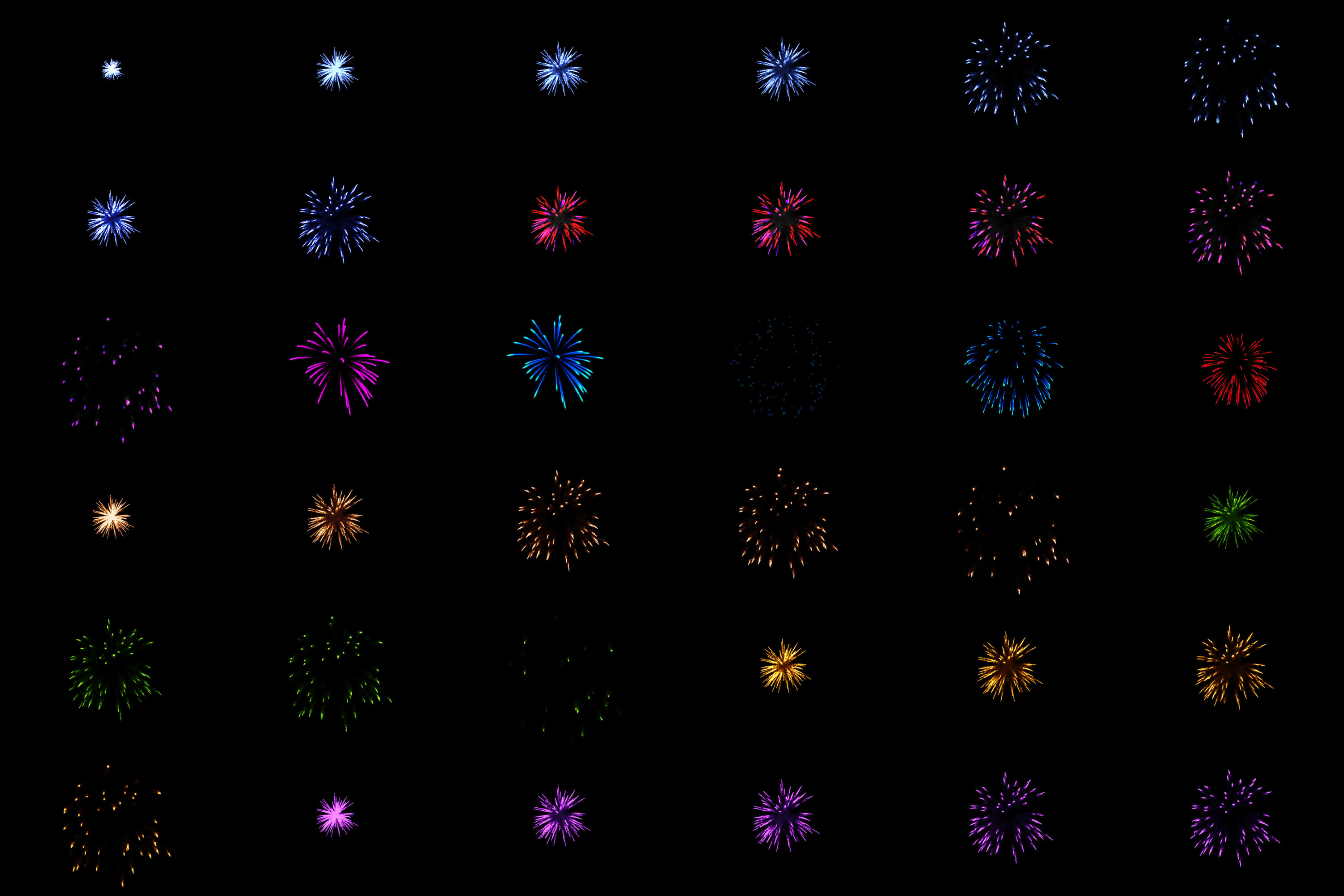 60 Firework Christmas Party Overlays example image 3