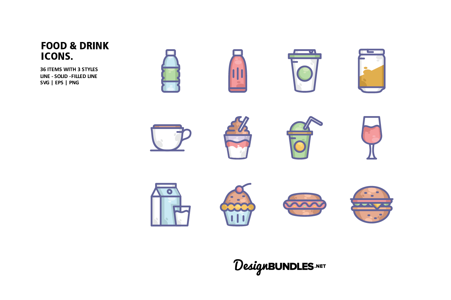 Food and Drink Icons example image 1