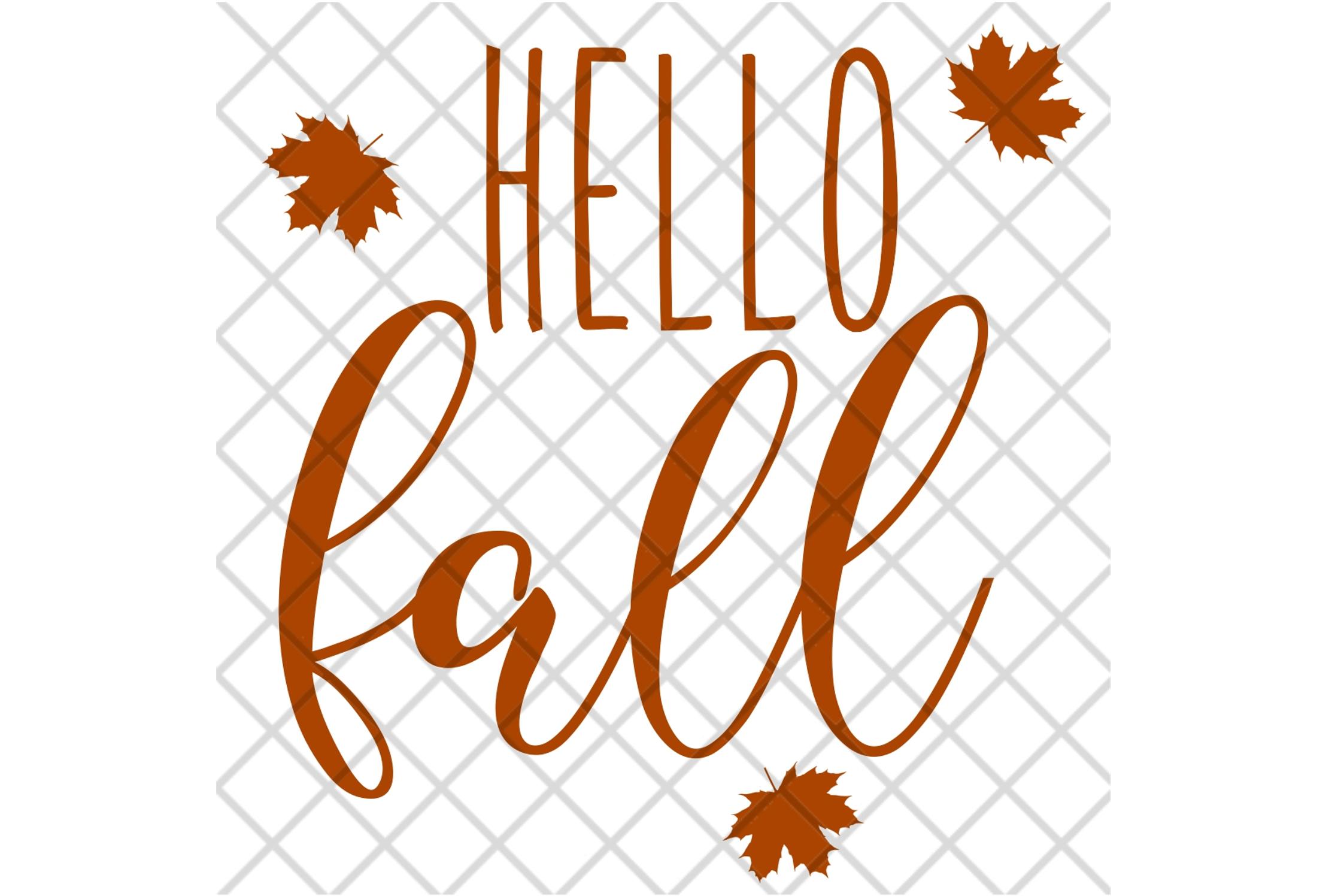 Hello Fall SVG Digital Cut File example image 4