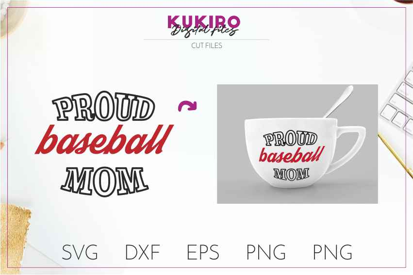 Baseball SVG BUNDLE Cut files SVG DXF EPS PNG Baseball Mom example image 5