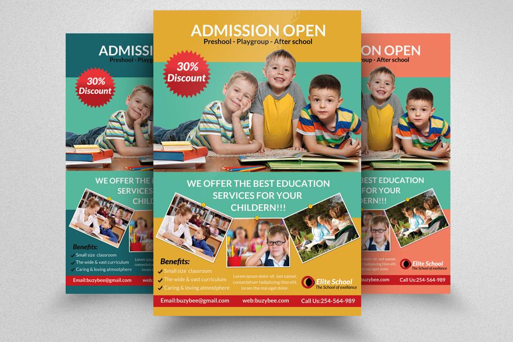 6 Kids School Education Flyers Bundle example image 2
