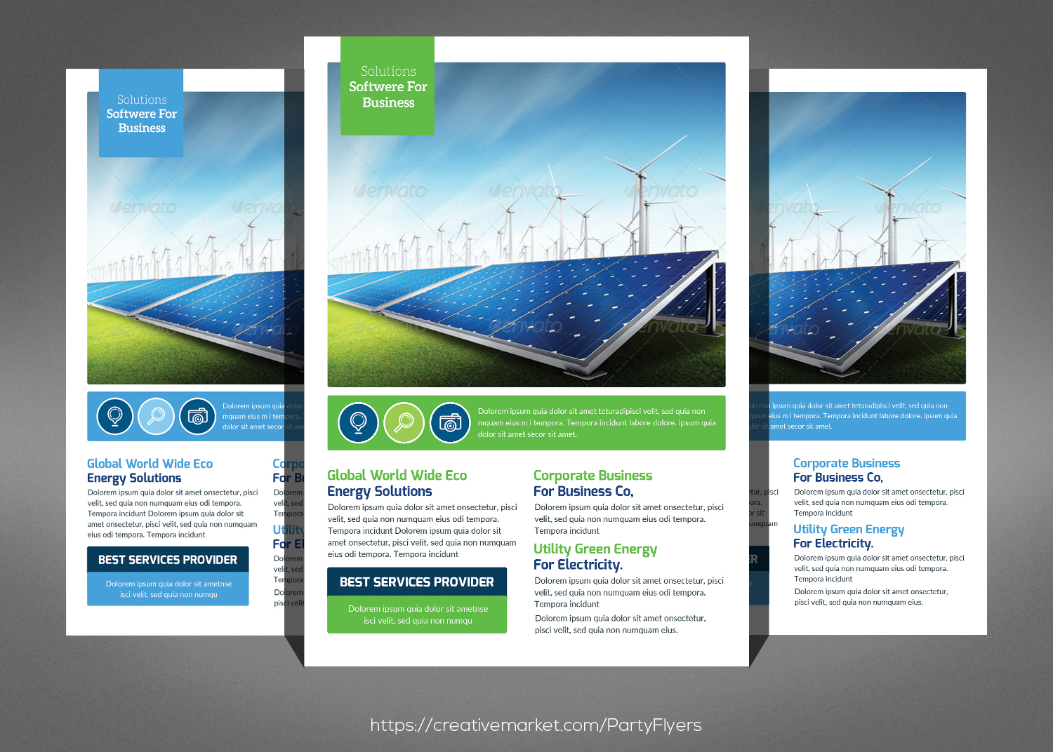 Green Energy Flyer Psd example image 1