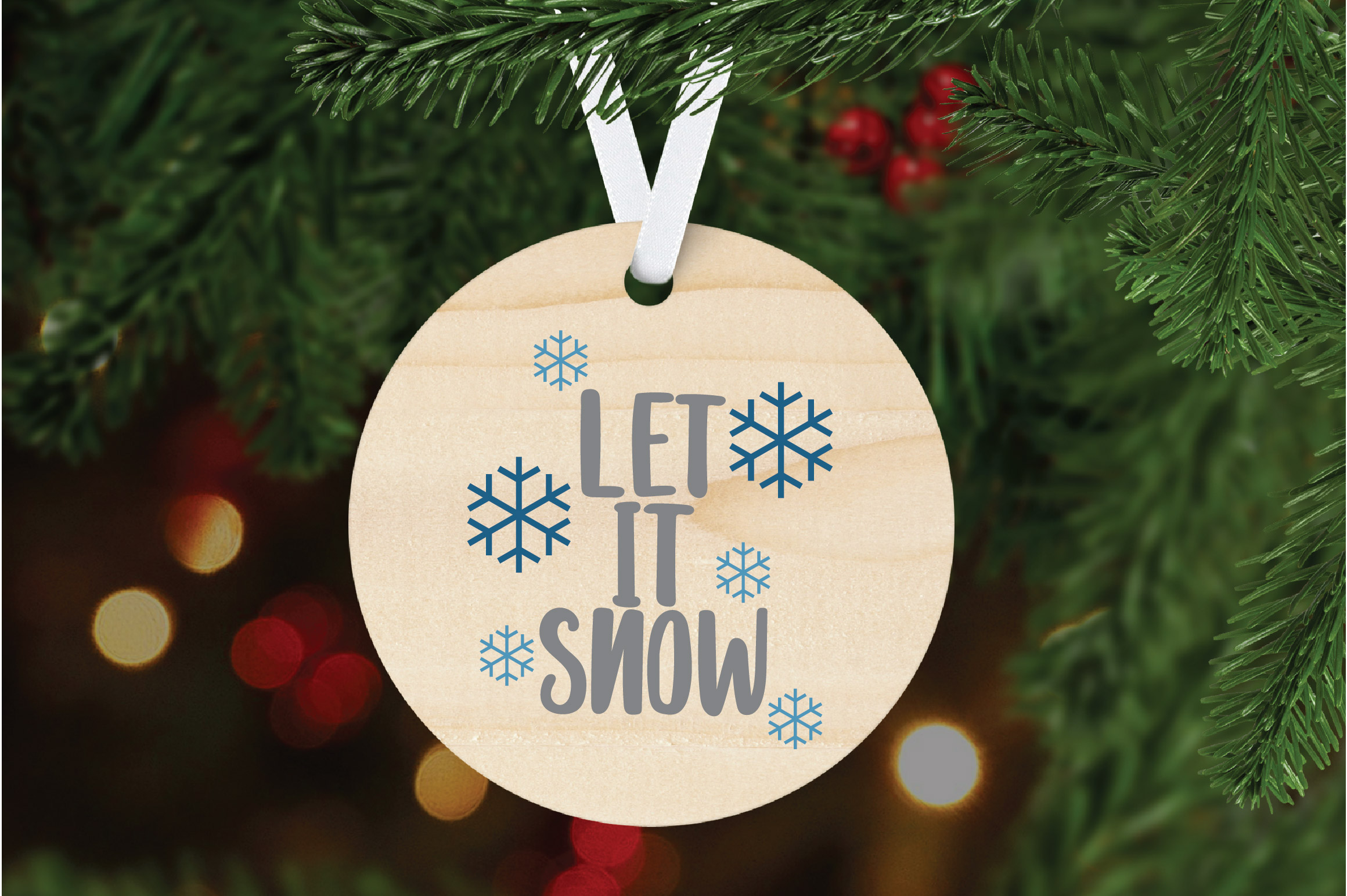 Let it Snow SVG Cut File - Christmas SVG example image 5