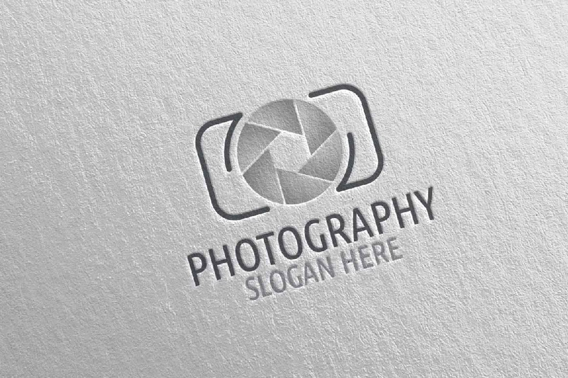 Abstract Camera Photography Logo 2 example image 4
