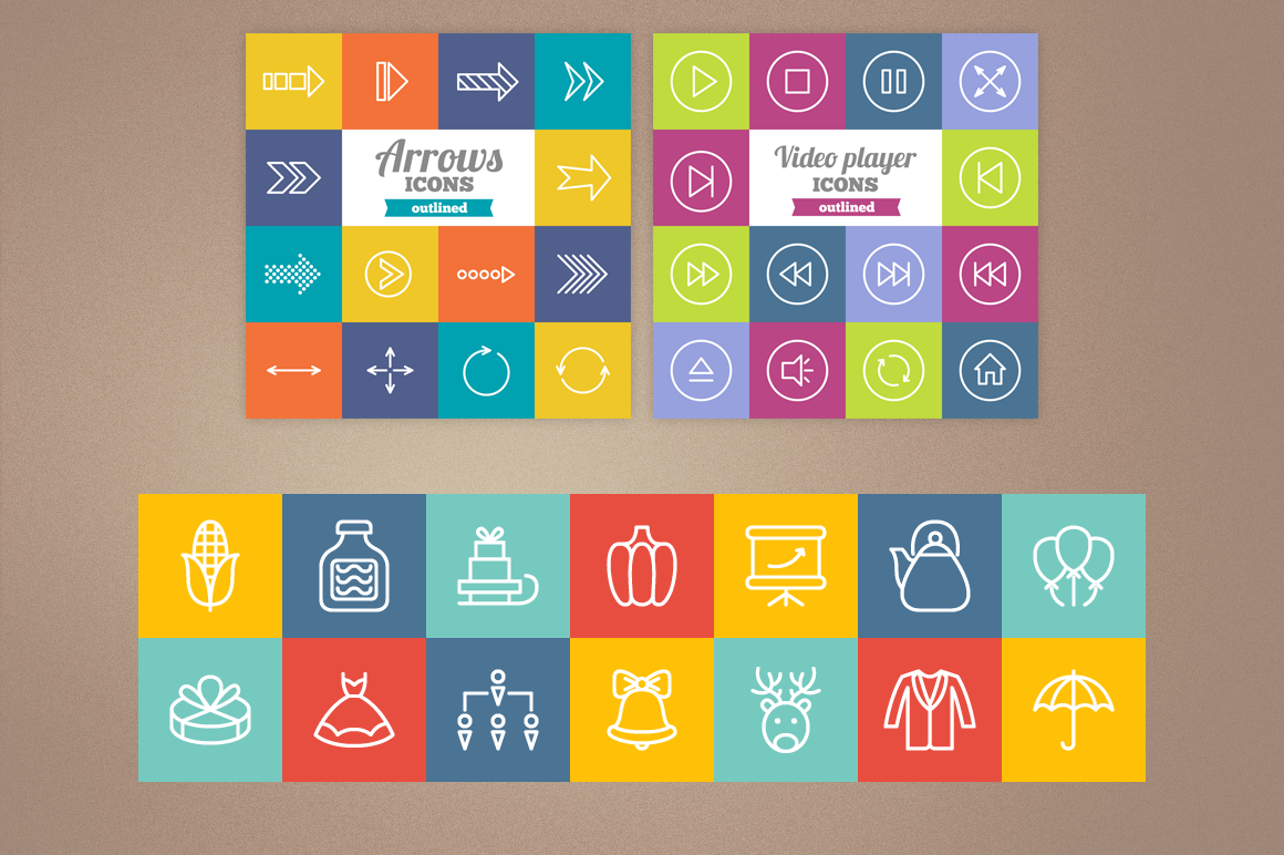83 Off - Outlined Icons Big Bundle example image 9