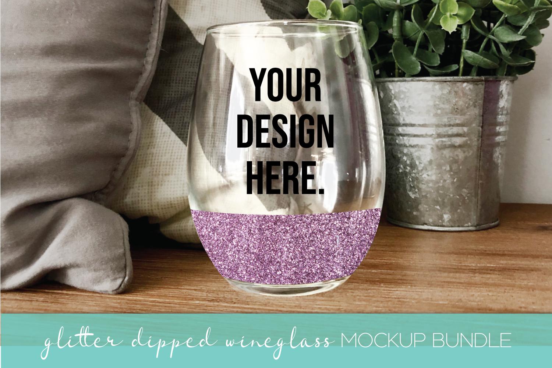 Mockup Bundle - Wineglass - Wood Sign - Pillow PSD JPG example image 7