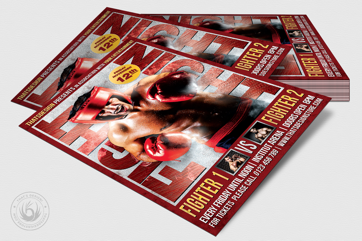 Fight Night Flyer Template V3 example image 4
