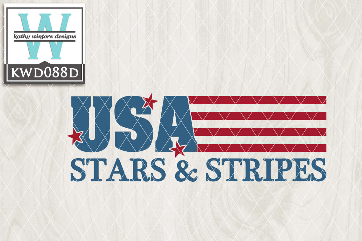 Patriotic Cutting File KWD088D example image 1