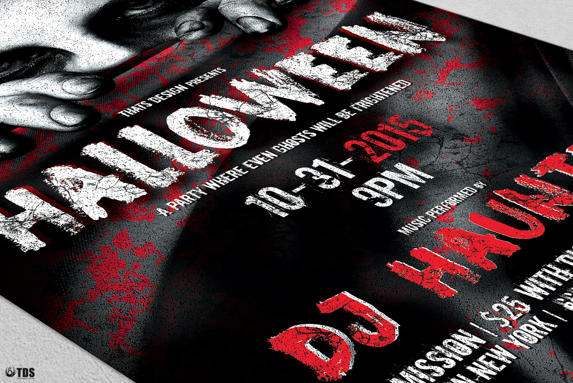 Halloween Flyer Template V5 example image 6