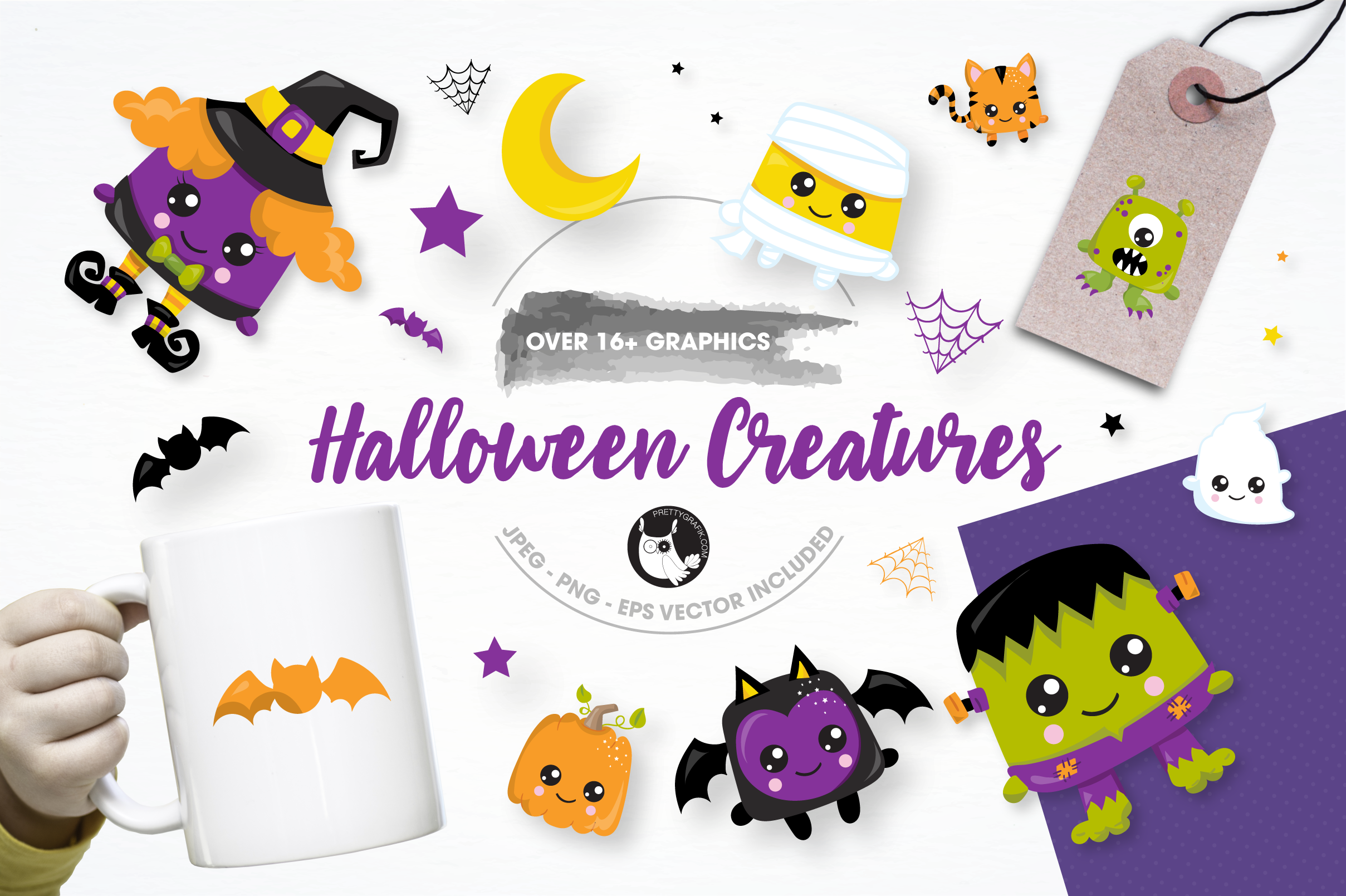 halloween creatures graphics and illustrations example image 1