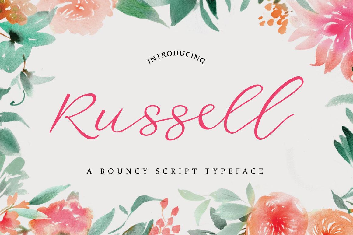 Russell Font example image 1