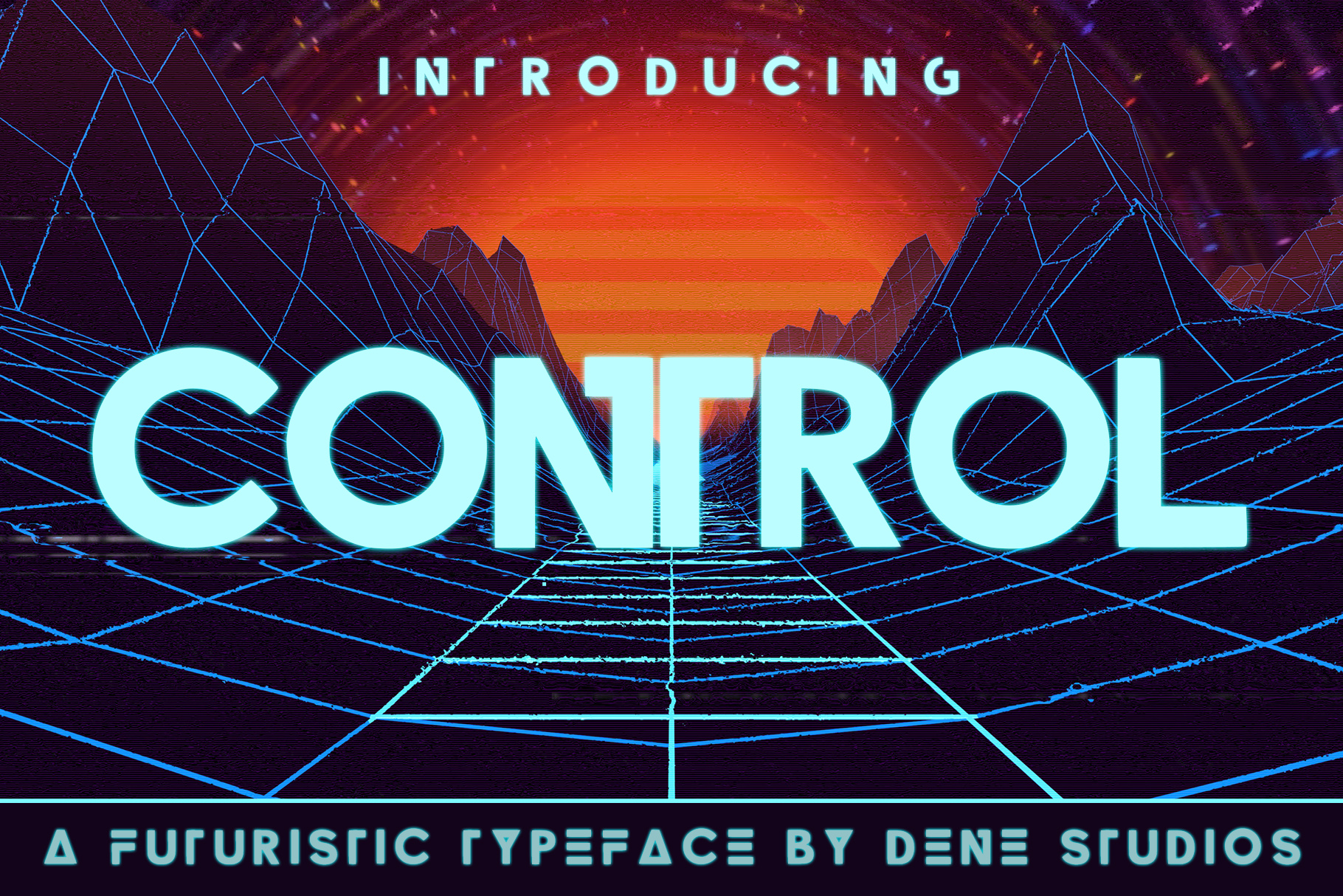 CONTROL - A Futuristic Typeface example image 1