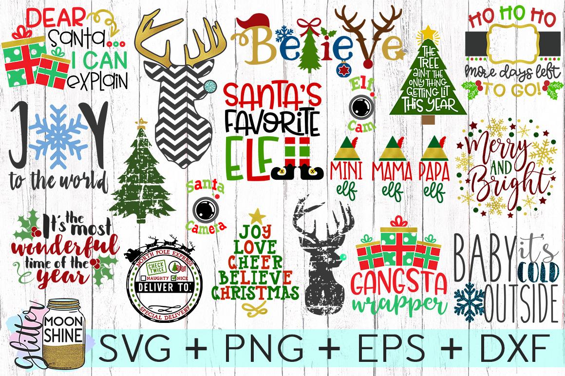 Huge Christmas Bundle Svg Dxf Png Eps Cutting Files 45069 Cut Files Design Bundles