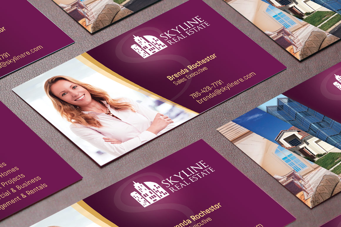 real estate business card template 19148  business