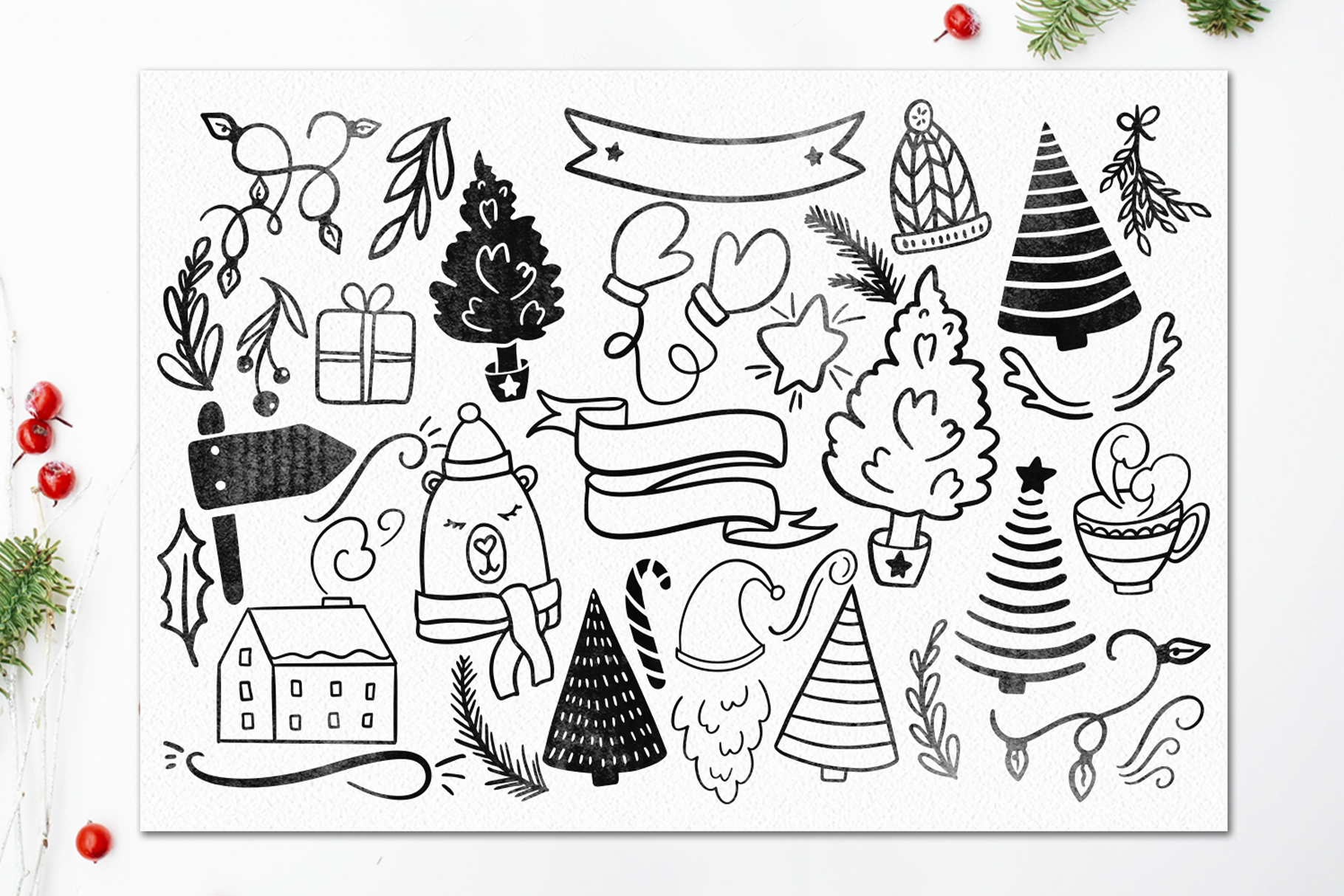 LaLaLapland. Christmas Fonts collection & illustrations example image 14
