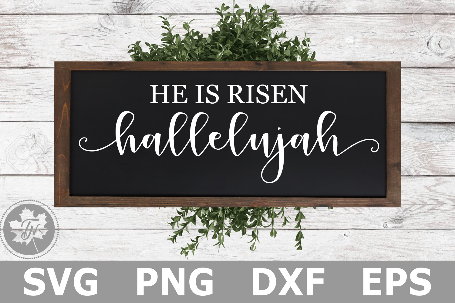 He is Risen Hallelujah - A Religious SVG Cut File example image 1