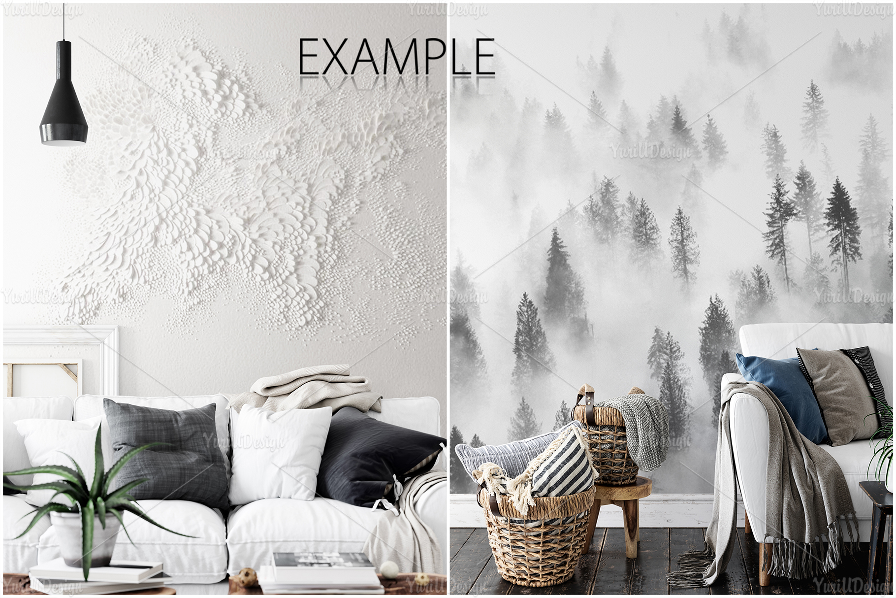 Scandinavian Interior Frames & Walls Mockup Bundle - 3 example image 10