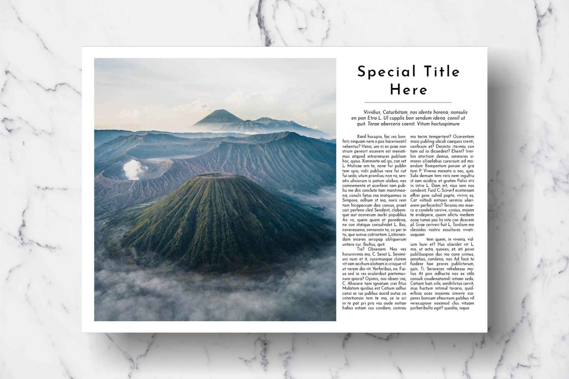 Magazine Template Vol. 18 example image 16