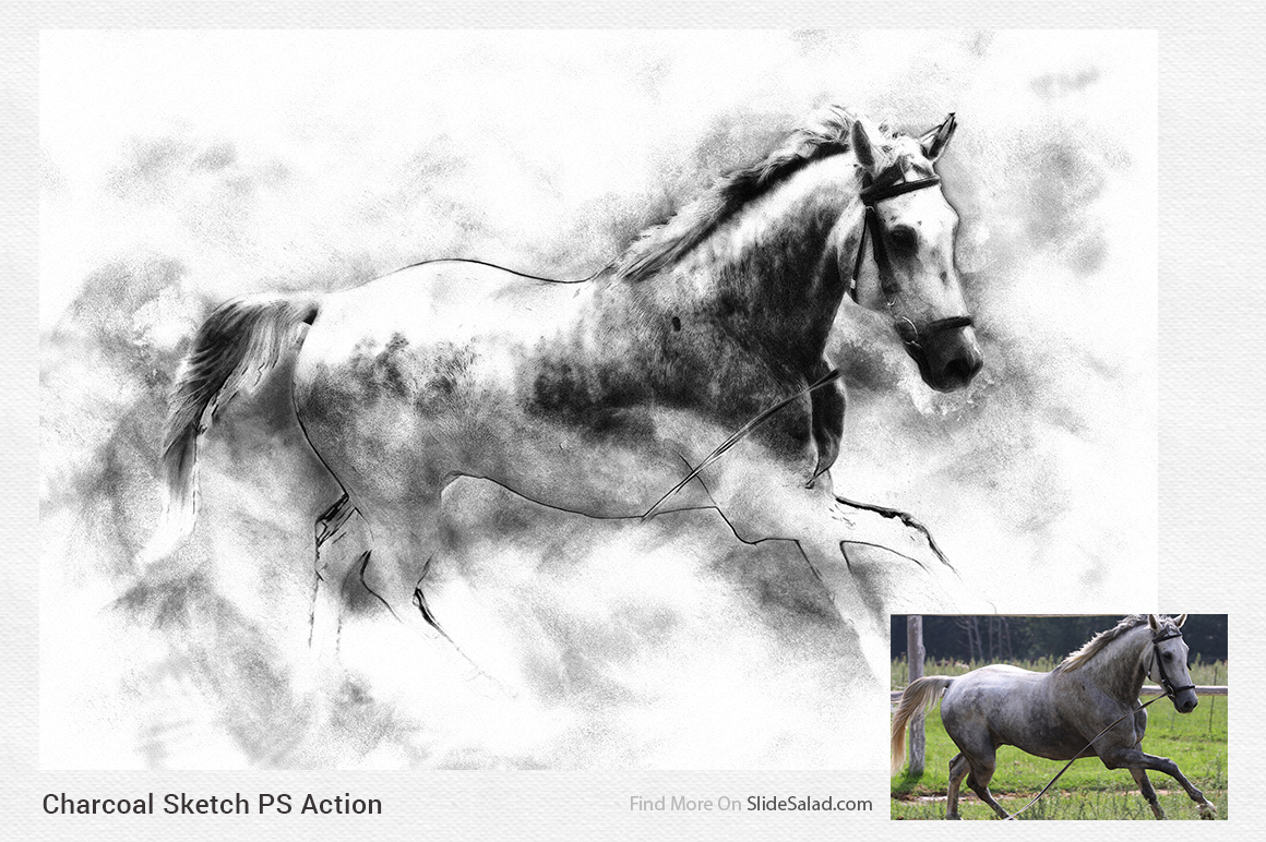 Charcoal Sketch Photoshop Action example image 8