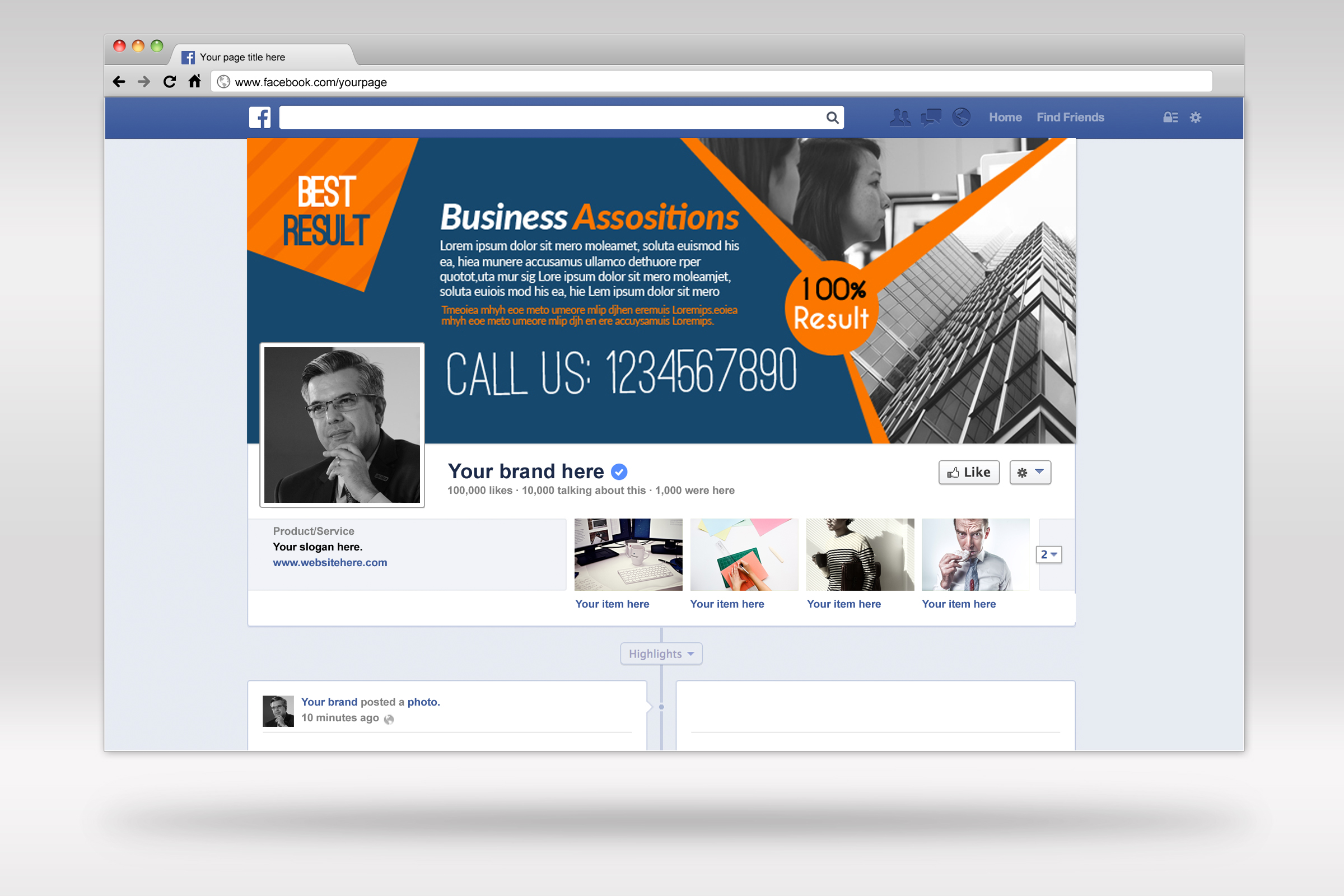 Business Facebook Timelines 05 example image 1