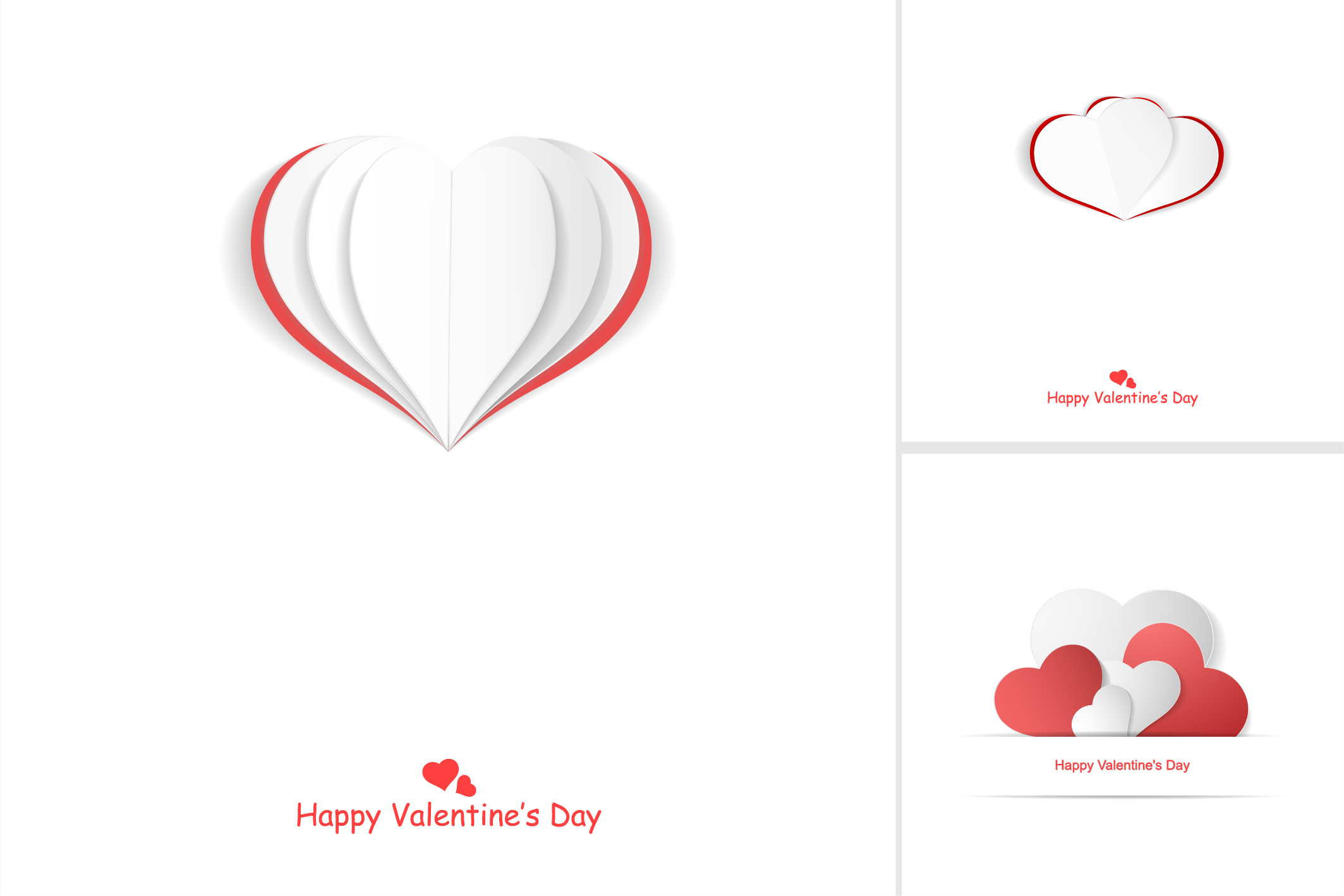Valentine day postcards with hearts example image 9