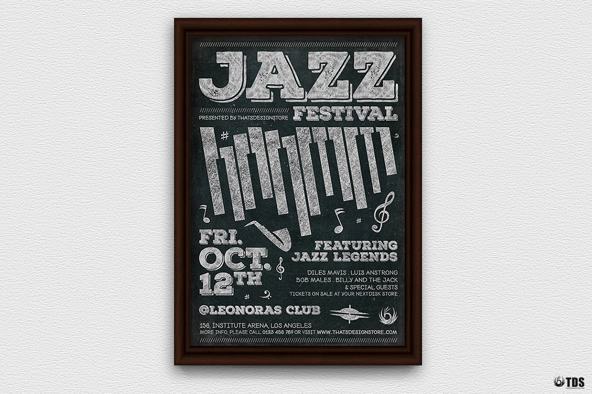 Jazz Festival Flyer Template V7 example image 2