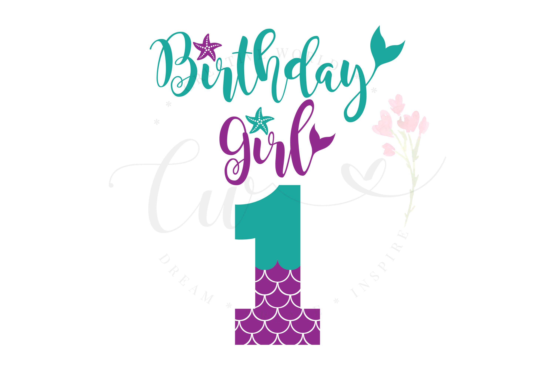 My 1st Birthday Mermaid SVG | Mermaid Birthday Girl svg example image 1