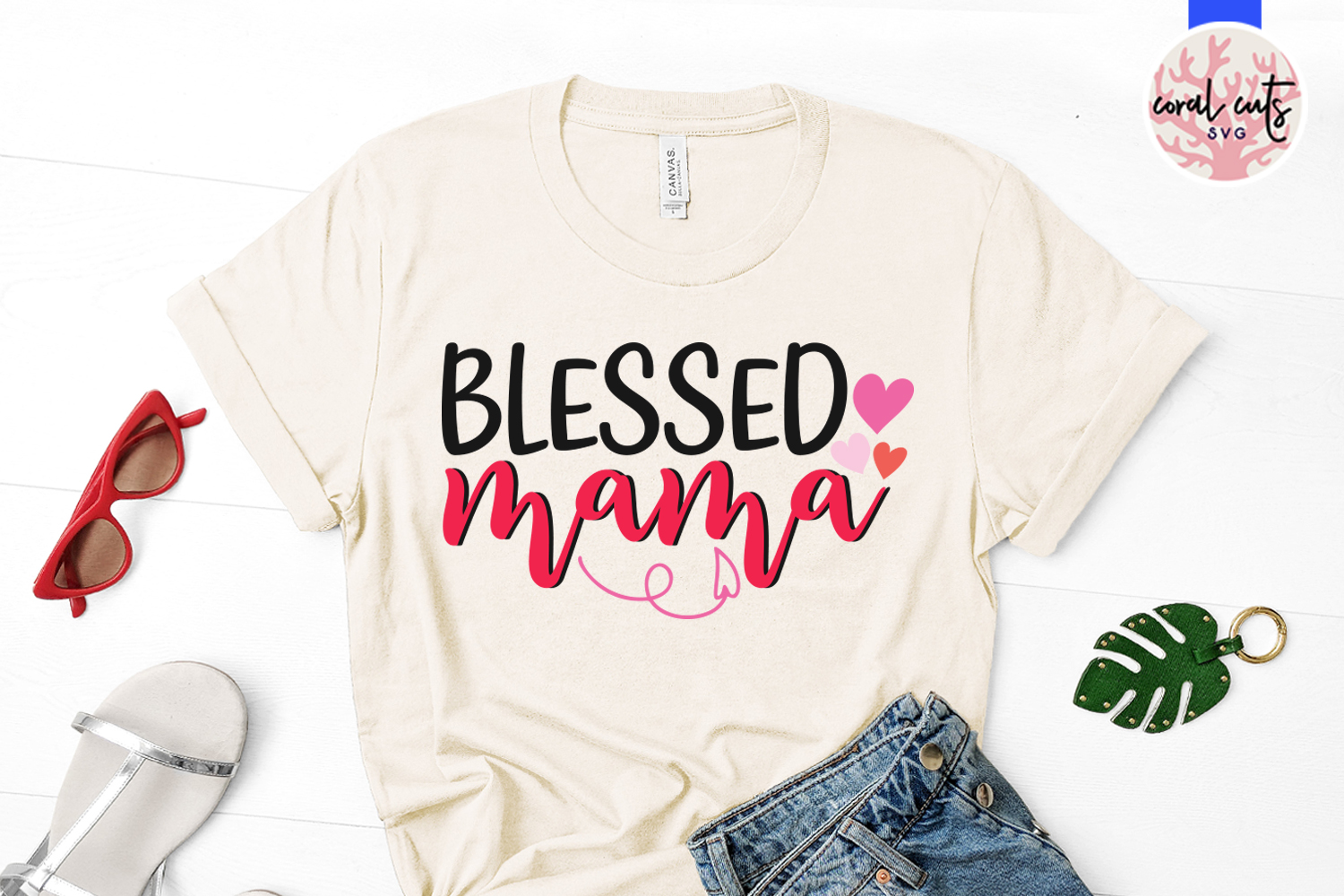 Blessed mama - Mother SVG EPS DXF PNG File example image 2