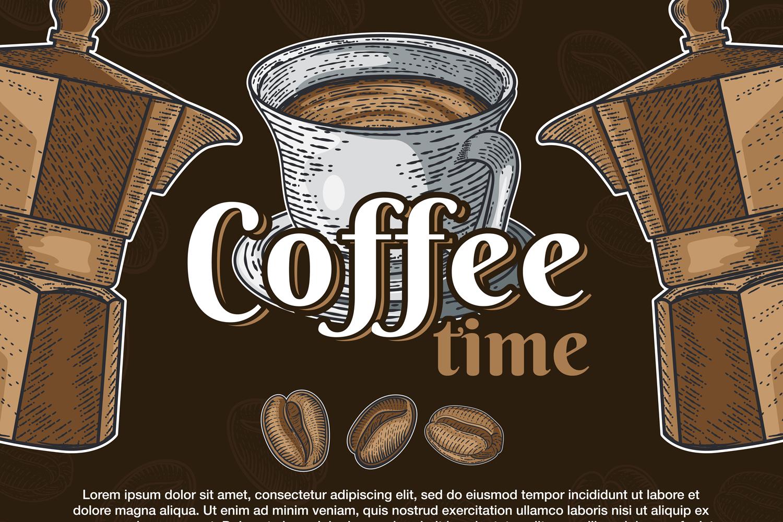 15 designs - Coffee restaurant brochure vector, coffee shop example image 12