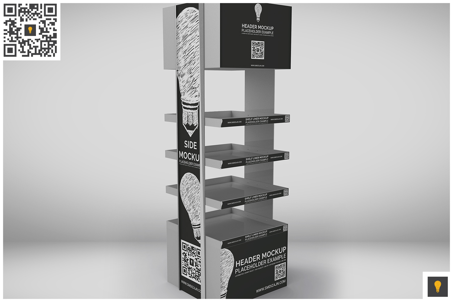 Promotional Store Shelf Stand Mockup example image 5