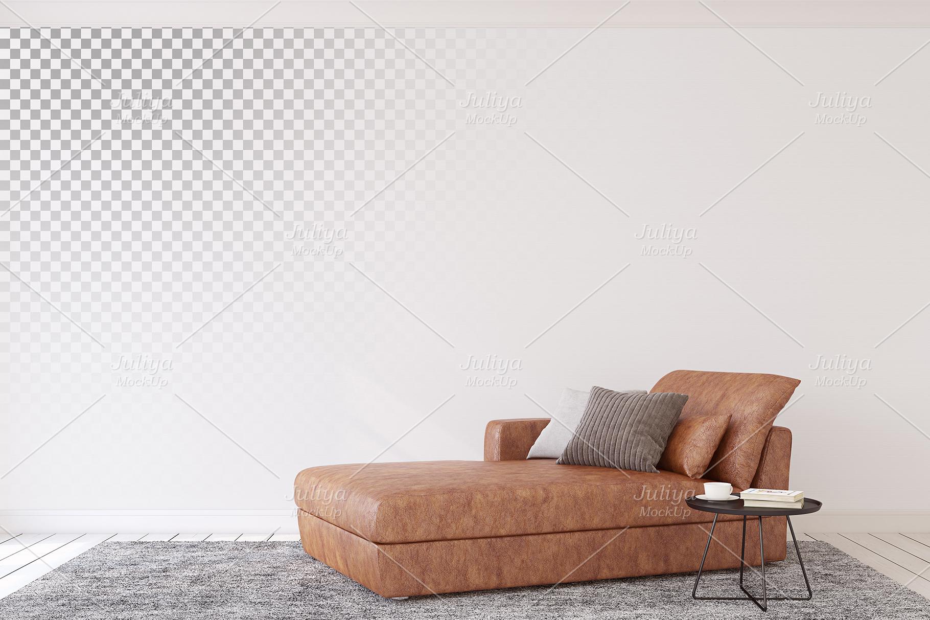 Men's Interior. Wall&Frames Mockup. example image 8