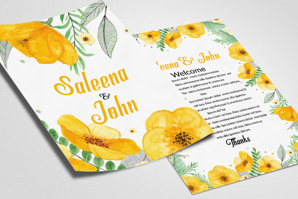 Double sisded Save The Date Invites Card example image 1