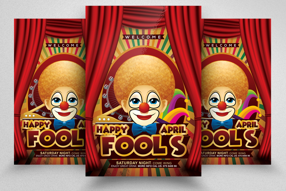 4 April' Fool Party Flyers Bundle example image 3