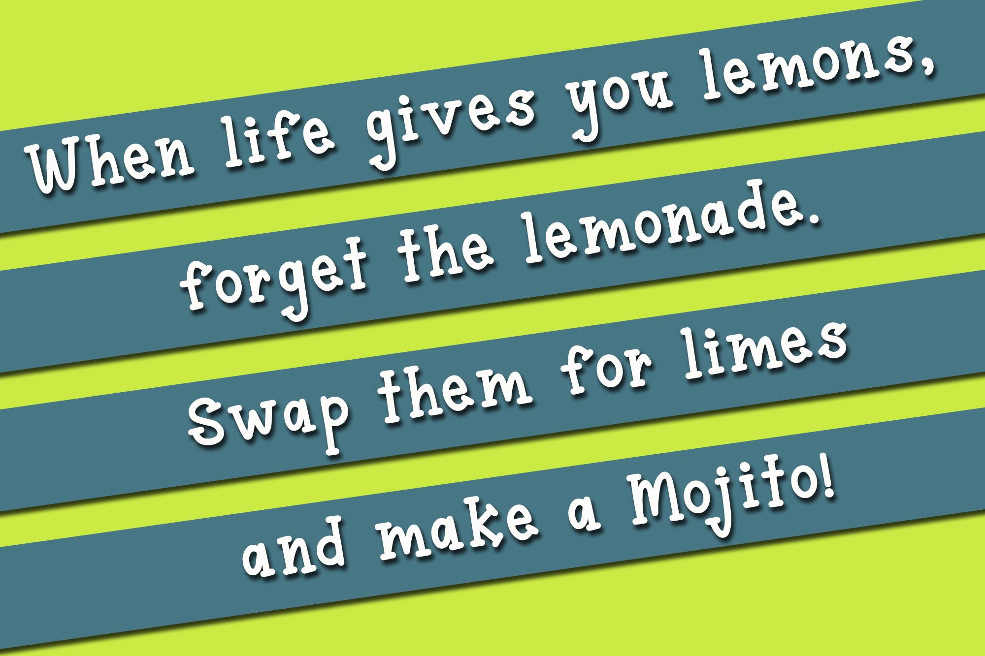 Lime Mojito - A Fun Serif Font example image 3