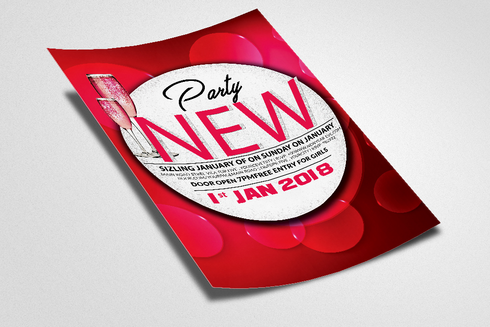 New Year Bash Flyer 2 layouts example image 2