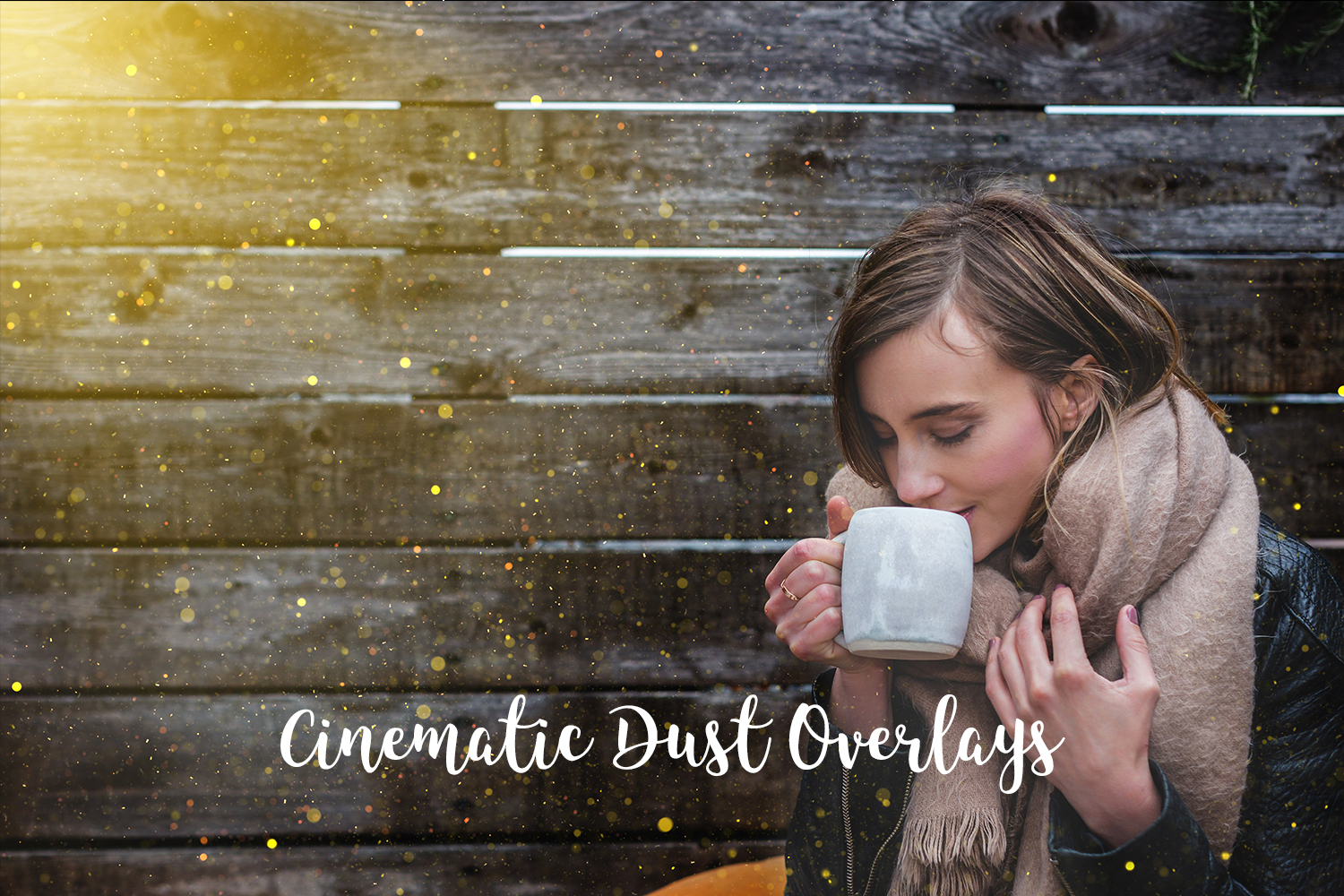Cinematic Dust Photo Overlays, Bokeh Light Effects example image 1
