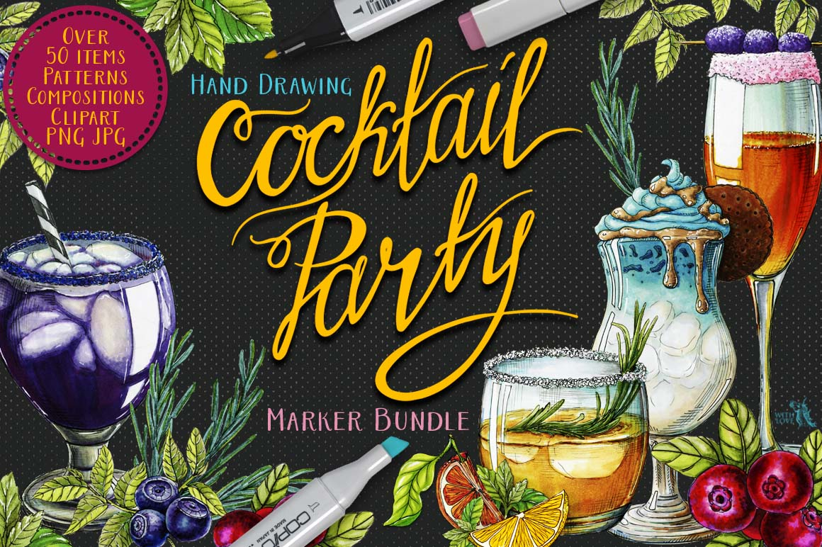 Cocktail Party Marker Bundle example image 1