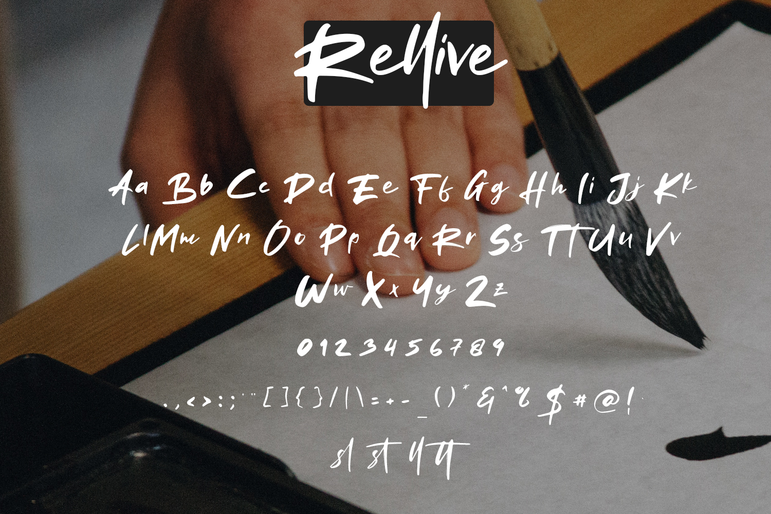 Rellive Brush Script Font example image 6