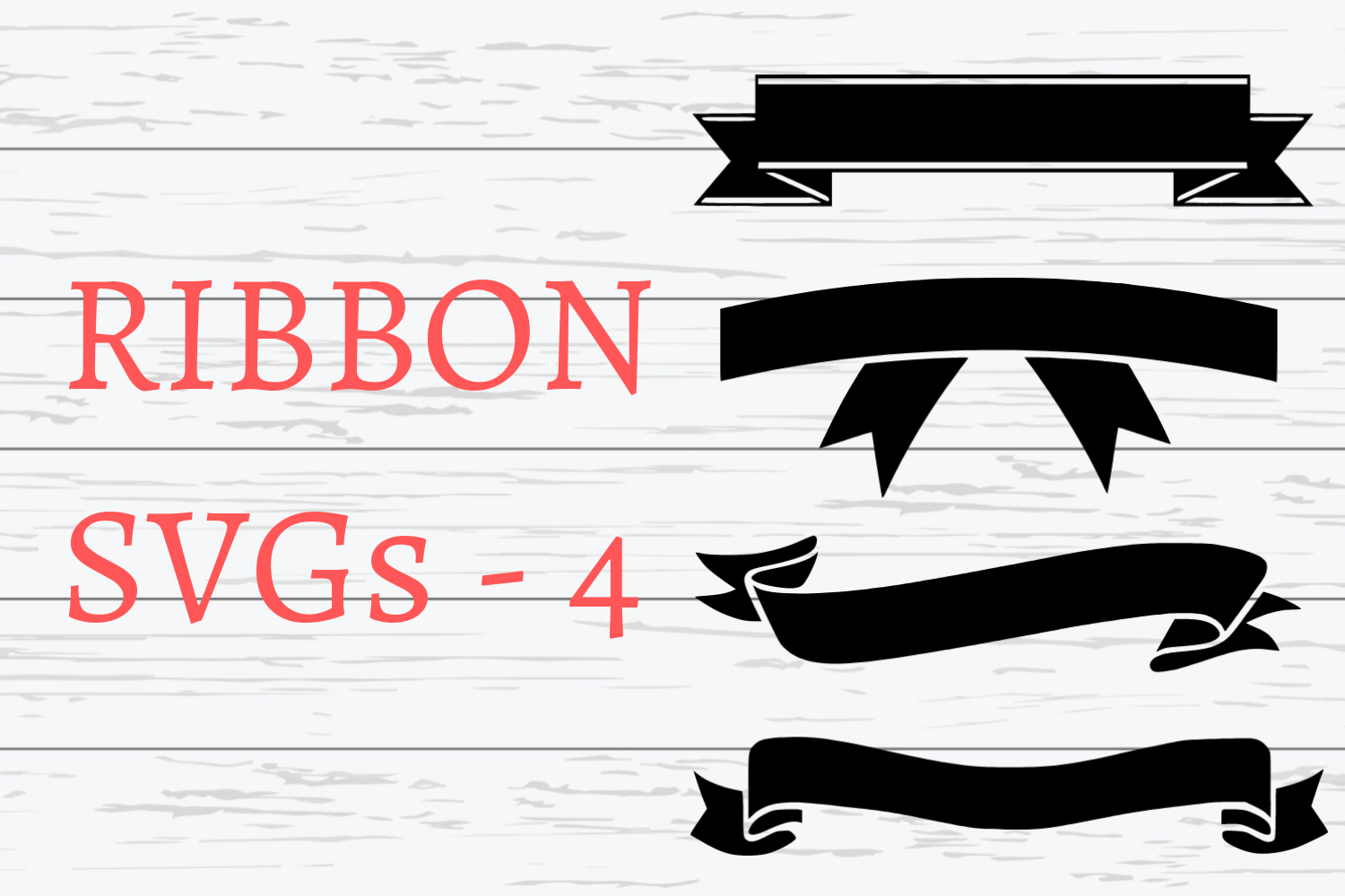 Ribbon SVGs|4 Different Ribbon SVGs example image 1