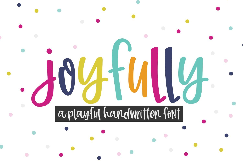 Joyfully | Smooth Handwritten Font example image 1