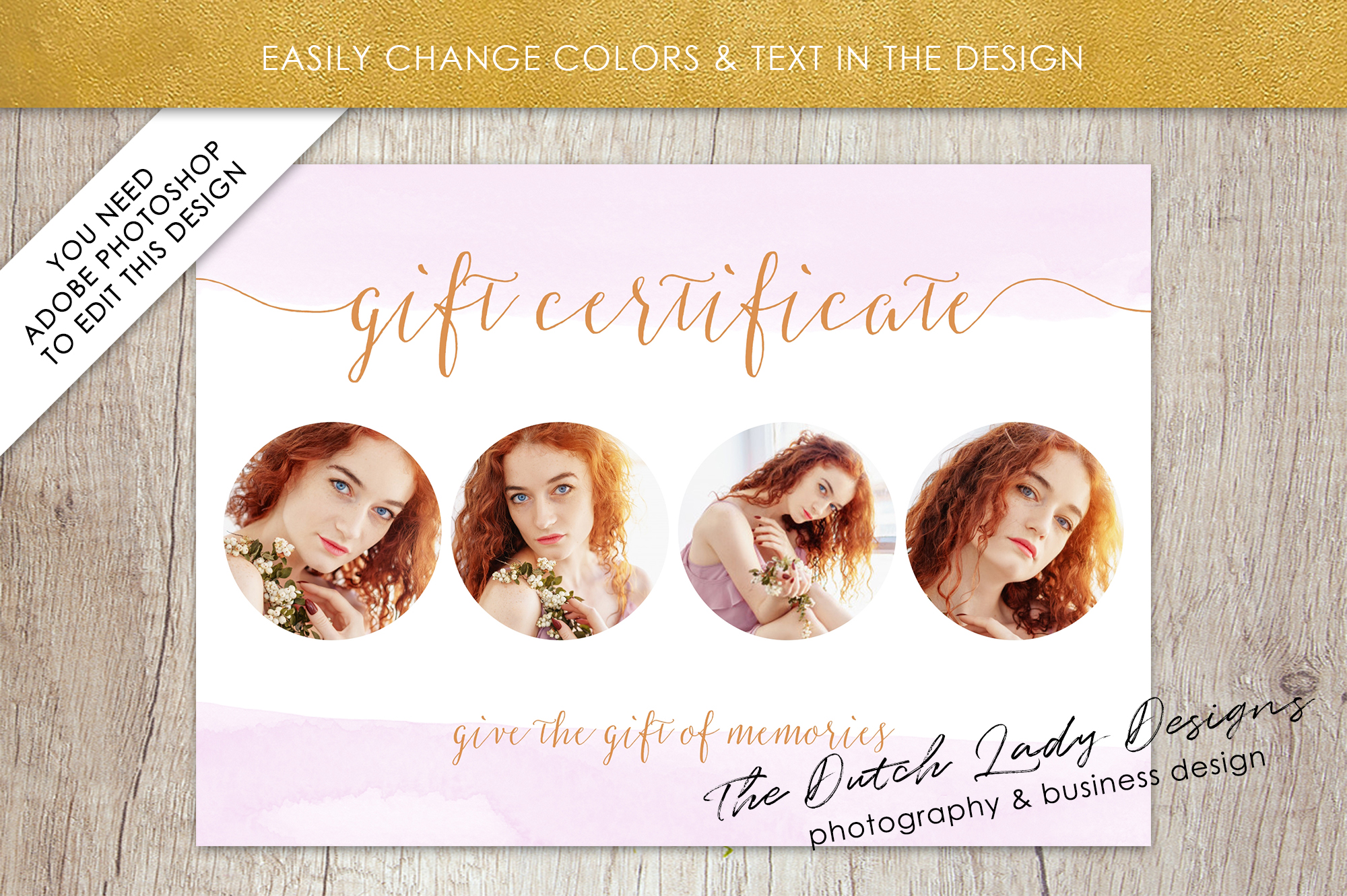 Photo Gift Card Template for Adobe Photoshop - #52 example image 4