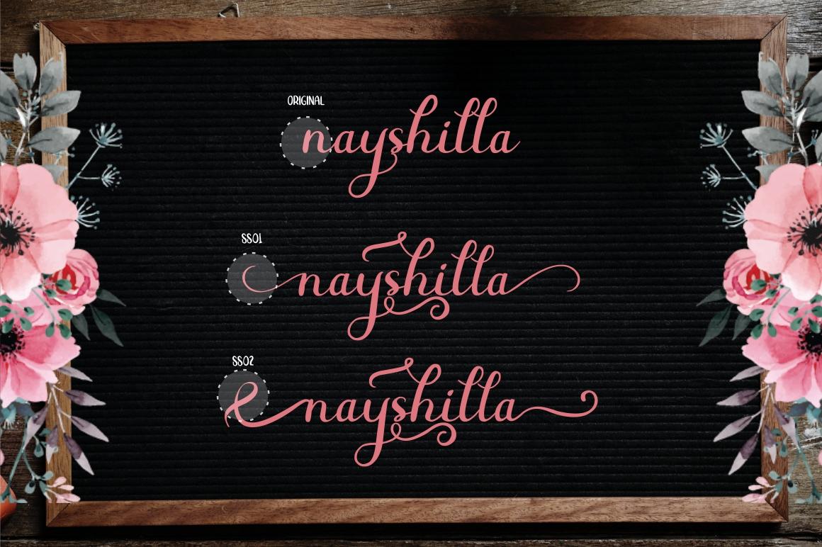 Beauty Nayshilla Font Duo example image 3