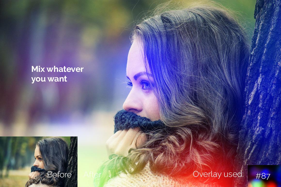119 Colorful Light Leaks Photo Overlays example image 5